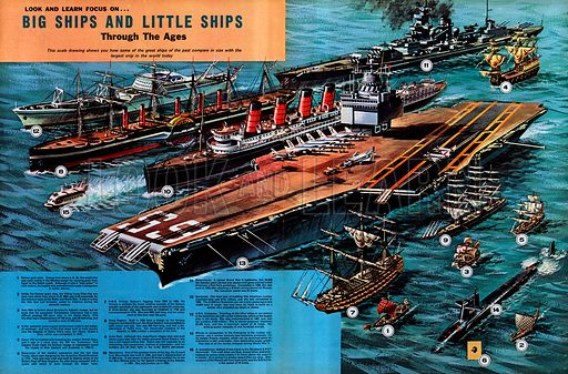 Look and Learn Focus on Big Ships and Little Ships Through the Ages.