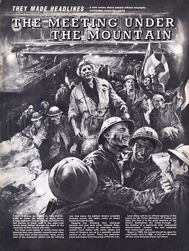 They Made Headlines: The Meeting Under the Mountain. The time: August 14, 1962. The place: 9,000 feet under the snows of Mont Blanc.