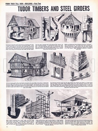 From Then Till Now: Building -- Tudor Timbers and Steel Girders.