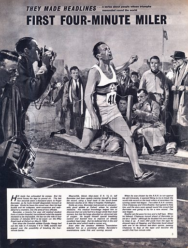 They Made Headlines: The Four-Minute Mile -- Roger Bannister became the first four-minute miler at Oxford in 1954.
