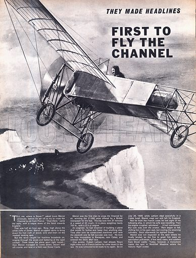 They Made Headlines: First to Fly the Channel.