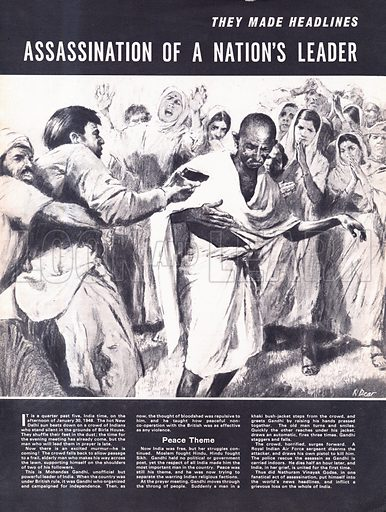 They Made Headlines: Assassination of a Nation's Leader -- Gandhi.