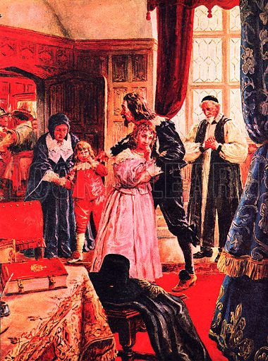 """A Pageant of Kings: Charles I -- The Martyr King. The day before his execution, Charles was permitted to see his children for one last time. """"I have forgiven my enemies,"""" he  told them, """"and I command all of you to forgive them also.""""."""