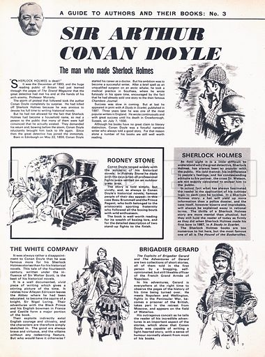 A Guide to Authors and Their Books: Sir Arthur Conan Doyle -- creator of Sherlock Holmes.