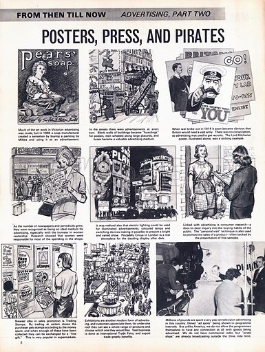 From Then Till Now: Advertising -- Posters, Press and Pirates.