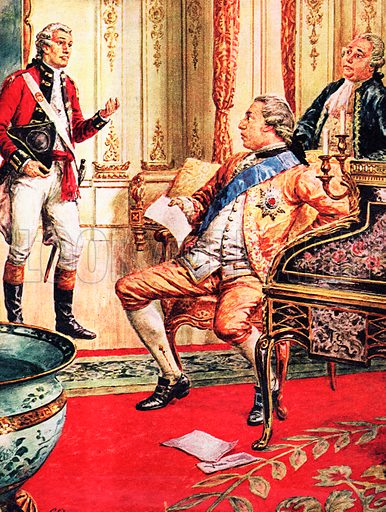 A Pageant of Kings: George III -- How Britain Lost an Empire. George the Third hears bad news from America, where Britain is at war with her colonists.