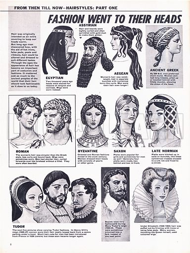 From Then Till Now: Hairstyles -- Fashion Went to Their Heads.