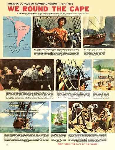 Epic Voyage of Admiral Anson: We Round the Cape.