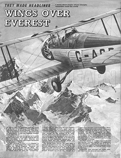 They Made Headlines: Wings Over Everest.