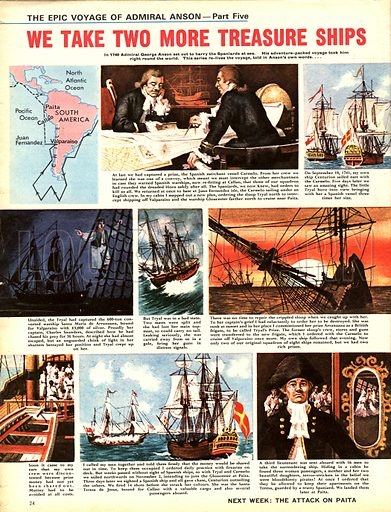 Epic Voyage of Admiral Anson: We Take Two More Treasure Ships.