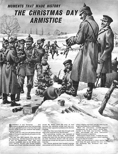 Moments That Made History: The Christmas Day Truce. One morning during the early months of the First World War, the Allies and their enemy stopped fighting and celebrated Christmas together.