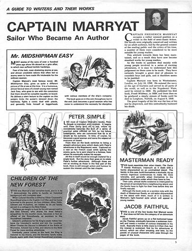A Guide to Writers and Their Works: Captain Marryat -- Sailor who Became an Author.