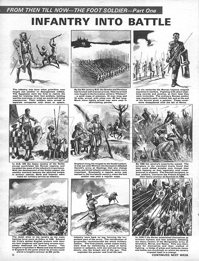From Then Till Now: The Foot Soldier -- Infantry Into Battle.