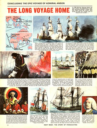 Epic Voyage of Admiral Anson: The Long Voyage Home.