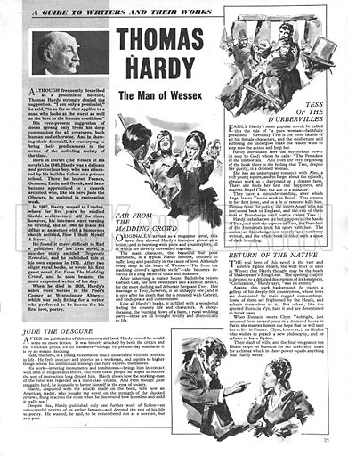 A Guide to Writers and Their Works: Thomas Hardy.