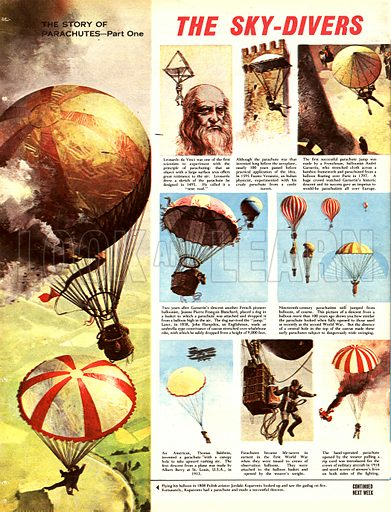 The Story of the Parachute: The Sky-Divers.