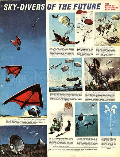 The Story of Parachutes: Sky Divers of the Future.