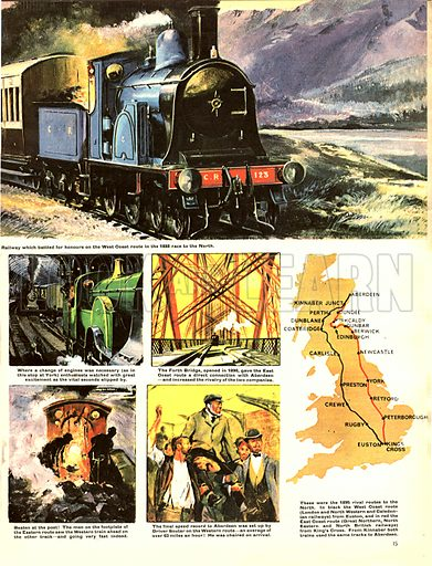 Epic Days of the Iron Road: The Great Rail Race... in 1888 two trains left King's Cross for Aberdeen in Scotland, one via the West Coast and one via the East Coast.