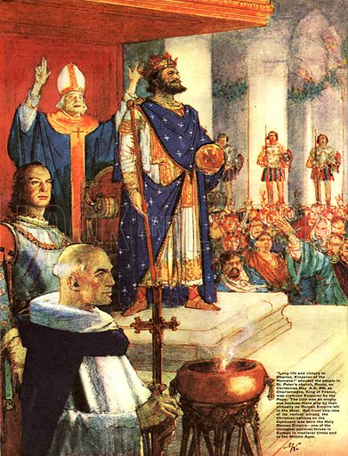 The Wonderful Story of France: Charlemagne Begins the Holy Roman Empire.