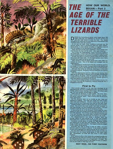 How Our World Began: The Age of the Terrible Lizards.
