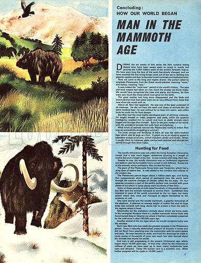 How Our World Began: Man in the Mammoth Age.