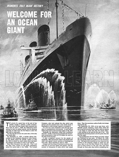 Moments That Made History: Welcome for an Ocean Giant.