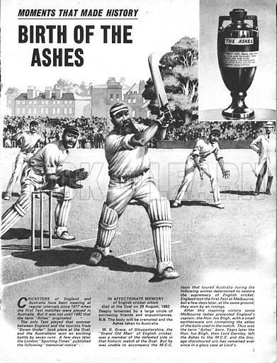 Moments That Made History: Birth of the Ashes, the famous cricket cup.