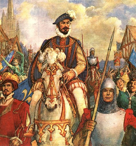The Wonderful Story of France: The King Who Stopped a War. The Duke of Guise returns to Paris in triumph in 1588 after defeating the French Protestant rebels.