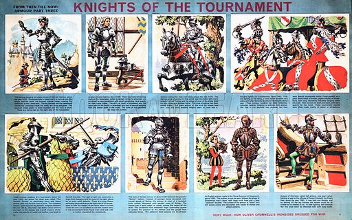From Then Till Now: Armour -- Knights of the Tournament.