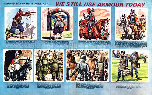 From Then Till Now: Men in Armour -- We Still Use Armour Today.