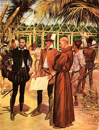 Founding of St Augustine, Florida, 1565.