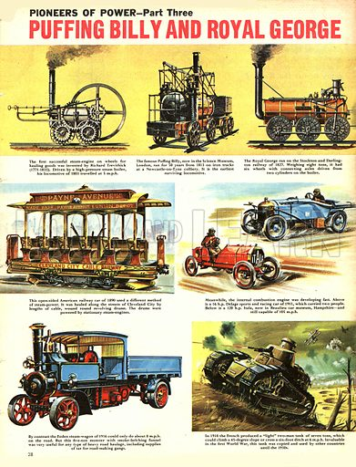 Pioneers of Power: Puffing Billy and Royal George -- the first steam locomotives.