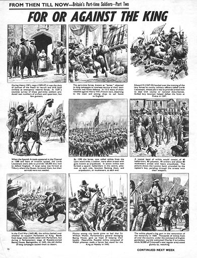 From Then Till Now: Britain's Part-Time Soldiers -- For or Against the King.