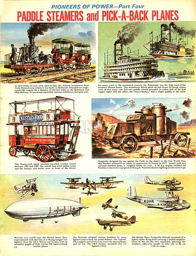Pioneers of Power: Paddle Steamers and Pick-a-Back Planes.
