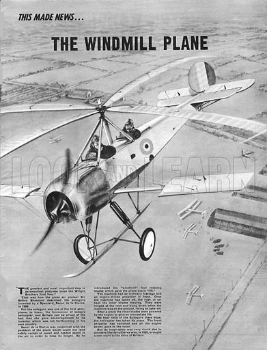 "This Made News: The Windmill Plane. Sefton Branckner described the autogyro as ""The greatest and most important step in aeronautical progress since the Wright Brothers first flew.""."