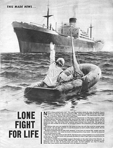 This Made News: Lone Fight for Life – In 1952, Dr Alain Bombard tried to cross the Atlantic without food or water aboard his small raft.