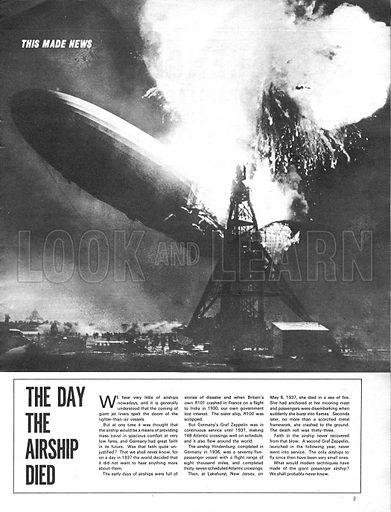 This Made News: The Day the Airship Died – the destruction of the Graf Zeppelin in 1937.