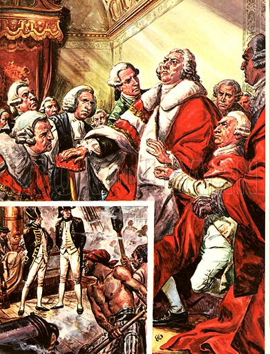 Britain's Prime Ministers: The Amazing Pitts. William Pitt makes his last speech in Parliament in 1778... and Lord Nelson on the deck of his ship, Victory, at the Battle of Trafalgar.