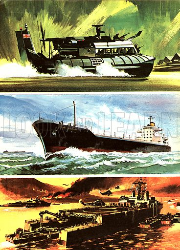 Three From Great Britain -- the latest developments by land, sea and air.