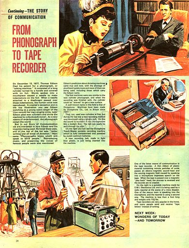 The Story of Communication: From Phonograph to Tape Recorder.