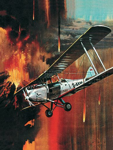Famous Aircraft and Their Pilots: De Havilland Gipsy Moth -- Jean Batten. Professionally re-touched image.