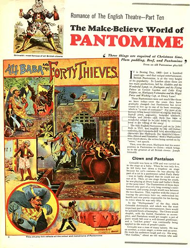 Romance of the English Theatre: The Make-Believe World of Pantomime.