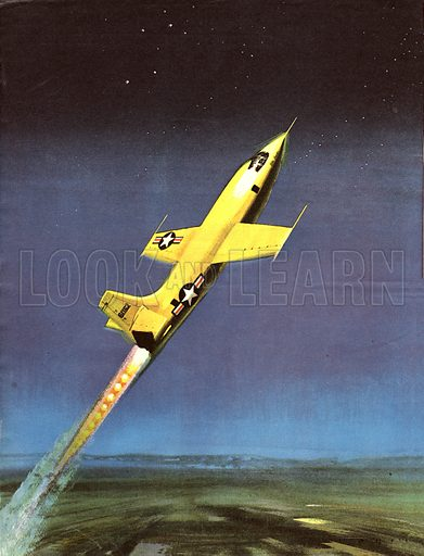"""Famous Aircraft and Their Pilots: The Bell X-1 -- Major Charles """"Chuck"""" Yeager."""