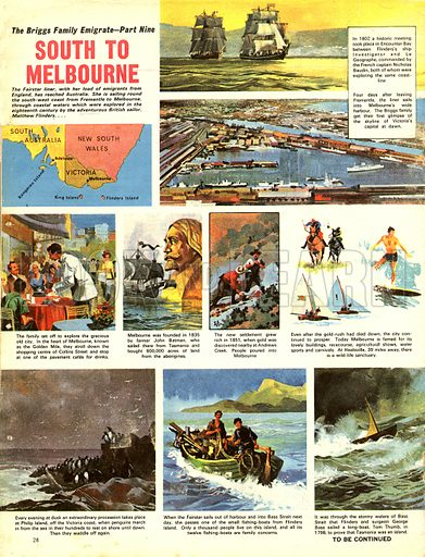 The Briggs Family Emigrate: South to Melbourne.
