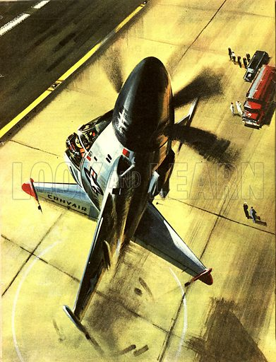 """Famous Aircraft and Their Pilots: The Convair XFY-1. 'Pogo', the """"impossible plane; that critics said could not be designed, let alone fly."""