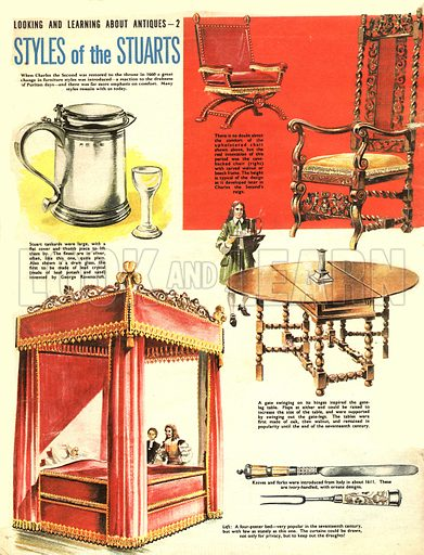 Look and Learn About Antiques: Styles of the Stuarts.
