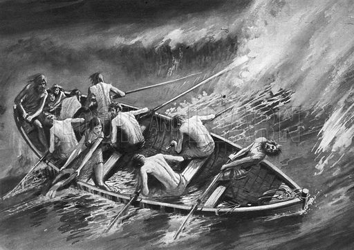 They Rowed to Freedom. The boat was old and leaky. In it were eight men, one woman and two small children. The dangers of the voyage were such that they could scarcely hope to survive -- the the horrors and hardships of the life they were fleeing from made any risk worth taking.