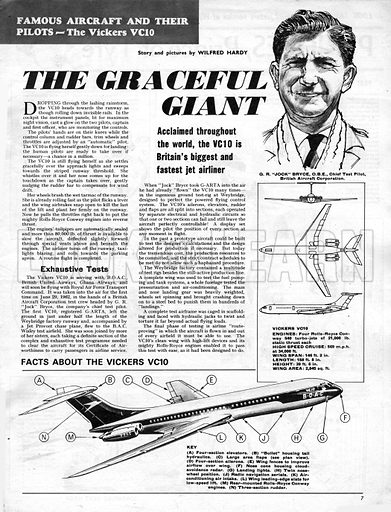 Famous Aircraft and Their Pilots: The Vickers VC10 -- The Graceful Giant.