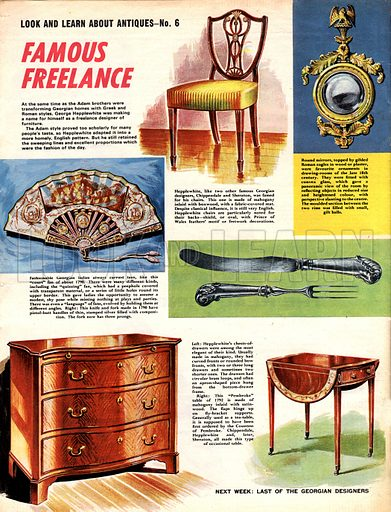 Look and Learn About Antiques: Famous Freelance.