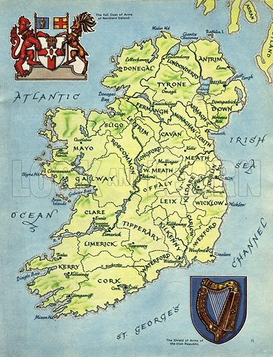 Look and Learn's Special Picture History and Map of Ireland.